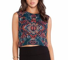 "ANTIK BATIK Paris $239 ""Embellished Top Aime Sequin Tee"" - Size Large, EUR 42 #AntikBatik #CropTop #Casual"