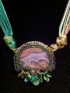 Shibori Silk and Beads