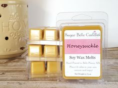 Scented Wax Melts - Soy Wax Melts - Soy Wax Tarts - Scented Candle Melts - Wax Cubes - Wax Warmer Melts - Vegan - Honeysuckle Wax Tart Melts