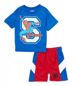 Look what I found on  zulily! Spider-Man Shorts   Tee Set - 875d60be8a