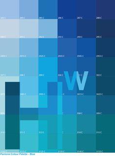 Day 6 - 27/03/14 - Pantone Colour Palette: Blue -  'Subtle Contrast Initials'