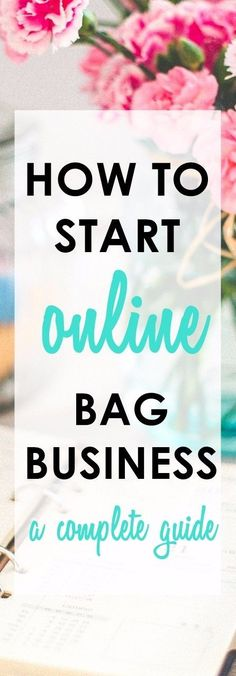 Road to Online Bagpreneur | How to Start an Online Handmade Bag Business | home business ideas | craft business ideas