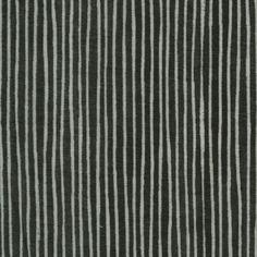 100% cotton L's Modern double gauze in black stripes from Lecien Japan.