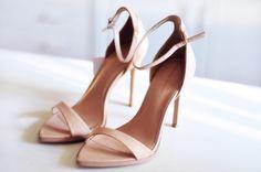 Blush strap heels.