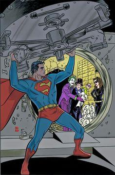 Action_Comics_31Él está cambiando ... y los hombres recién alistados de ACERO - Metallo, Santo Soldado, cráneo Atómica y del Acero - están a punto de descubrir en qué!