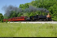 """Texas State Railroad, """"Baldwin Locomotive Works"""", 2-8-2 Mikado, Steam Locomotive (#7) Built in 1917 – was Owned by the Magma Copper Mine, Magma, Arizona – was Purchased by the Texas State Railroad in 1974, Restored and Returned to Service in 1978 and Serves as a Tourist Passenger Excursion Train - was in the Movie, """"How the West Was Won"""" (1962)"""