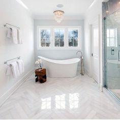 Top 60 Best Bathroom Floor Design Ideas - Luxury Tile Flooring Inspiration Home Design, Interior Design Guide, Floor Design, Design Ideas, White Bathroom Tiles, Bathroom Floor Tiles, Small Bathroom, Bathroom Ideas, Bathroom Designs