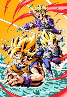 Imagen Vegeta And Trunks, Super Saiyan, Goku, Dragon Ball