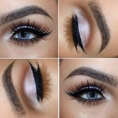 Light Pink Eye Makeup Look for Blue Eyes