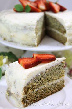 Маковый торт с маскарпоне