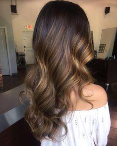 Caramel+Balayage+For+Long+Brunette+Hair