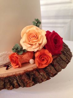 Autumn wedding cake - bottom tier