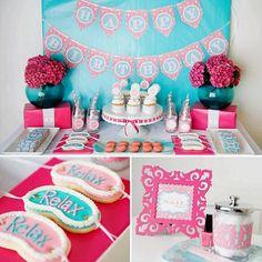 ideas originales para una mesa spa para niñas
