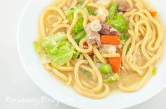 Oriental Lomi is an easy soup dish composed of round miki noodles, Chinese sausage, pork, and veggies. This version is more of the Chinese version and it is easier to prepare compared to the famous Batangas lomi. What I liked about this version aside from its ease of preparation is the delicious taste.