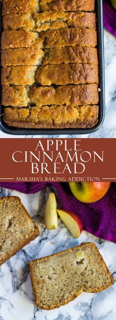 Apple Cinnamon Bread - Incredibly moist and delicious cinnamon-spiced bread studded with juicy apple chunks! Fall Baking, Holiday Baking, Christmas Baking, Fall Recipes, Sweet Recipes, Autumn Apple Recipes, Healthy Christmas Recipes, Apple Cinnamon Bread, Apple Bread
