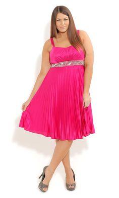 Plus Size Dakota Pleat Dress - City Chic - City Chic