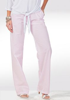 The Weekend Pant (Pink/White)