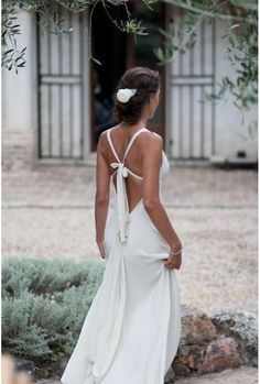 Fanny Liautard 2012 Bridal and Evening Collection Casual Wedding, Boho Wedding, Dream Wedding, Backless Wedding, Ivory Wedding, Bridal Gowns, Wedding Gowns, Insta Look, Mode Style