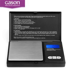 Gason Z2 Black small electronic digital kitchen pocket jewelry scale weight 200g 0.01g weighing balance scales gold steelyard pie -- Click on the image for additional details.
