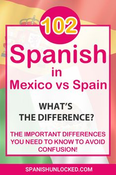 learning spanish Have you ever wondered if Spanish spoken in Spain and Mexico are the same? Check out the 102 differences between Spain Spanish and Mexican Spanish in vocabulary, pron Spanish Help, Learn To Speak Spanish, Learn Spanish Online, Study Spanish, Spanish Phrases, Spanish Words, Spanish Lessons, Spanish Language Learning, Learn A New Language
