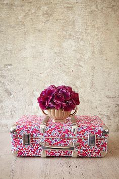 Floral suitcase from the Flowers of Liberty collection: http://www.liberty.co.uk/flowersofliberty