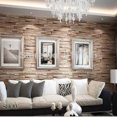 Pvc madeira tijolo de pedra esfoliante impermeável papel de parede 3D de luxo do Vintage em relevo papel de parede sala Decor em Papéis de parede de Casa & jardim no AliExpress.com   Alibaba Group