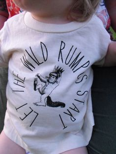 baby toddler t shirt  in super soft 100% cotton tees where the wild things are max. $9.99, via Etsy.