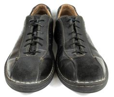 7c153cda6d Clarks Shoes Solid Black Leather and Suede Oxford Shoes Mens Size 12   Clarks  Oxfords