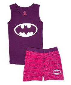 Another great find on #zulily! Batgirl Hologram Tank Pajama Set - Girls by Batgirl #zulilyfinds
