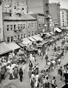 """Jewish market on the East Side""  USA - New York City, circa 1900"