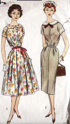 1960s Misses Summer Dress with Two Skirts