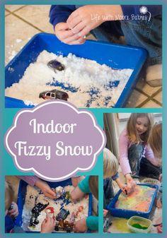 Life with Moore Babies: Indoor Fizzy Snow