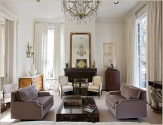 unfussy formal living room