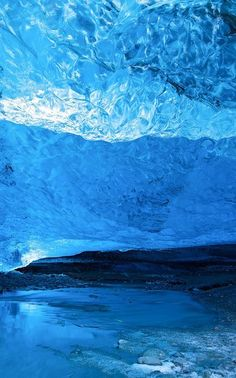Glacier Ice Cave. The color is just breathtaking!