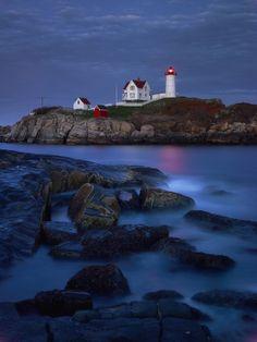 Twilight, Cape Nubble Lighthouse