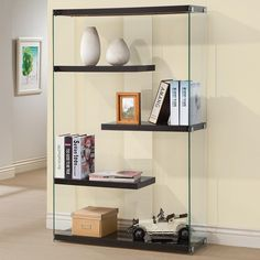 GLOSSY BLACK BOOKCASE 800608 BY COASTER