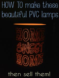 Beautiful!  Get 10 patterns for making these PVC lamps yourself.  #pvc #lamp #diy