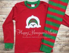 13d189db57 Polar Bear Christmas appliqué monogrammed by HappyMonogramMarket Polar Bear  Christmas