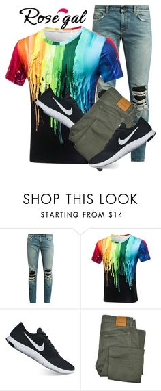 """""""Rosegal"""" by surround ❤ liked on Polyvore featuring Yves Saint Laurent, NIKE, Tom Ford, men's fashion and menswear"""