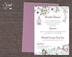 """Alice in Wonderland Bridal Shower Template 