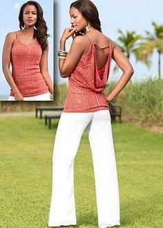 Open back sweater, sizes XS, S, M, L, XL / Drawstring pants, sizes S, L, XL