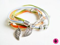 "Leder Wickelarmband ""Blätter"" / Herbst von  ❀Fashion-Princess❀ auf DaWanda.com Jewlery, Etsy, Personalized Items, Princess, Fashion, Autumn, Wristlets, Leather, Schmuck"