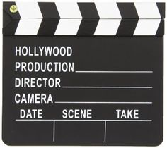 Director's Clapboard/ Centerpiece/party by Mylittleshopsupplies