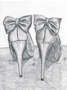 Simple drawing of Bowed heels