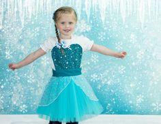 kids  ELSA   apron for  full apron for by loverdoversclothing