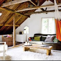 An indoor hammock would make me very happy.