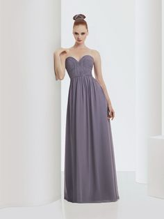 Bari Jay Bridesmaids STYLE: 916 in Shadow Gray Bella Chiffon. Sweetheart neckline, ruched bodice with detail tonal trim at waist. Dark Purple Bridesmaid Dresses, Bari Jay Bridesmaid Dresses, Girls Dresses, Flower Girl Dresses, Prom Dresses, Wedding Dresses, Wedding Flowers, Lilac Wedding, Flower Girls