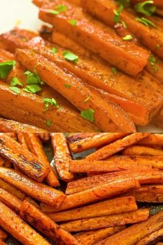 These simple Baked Carrot Fries make a healthy and tasty alternative to potato fries. Colorful and soft, it's impossible to stop eating them!  FOLLOW Cooktoria for more deliciousness! If you try my recipes - share photos with me, I ALWAYS check!