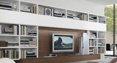 open 17 wall unit fanuli furniture decoration salon scandinave bibliotheque tv television murale