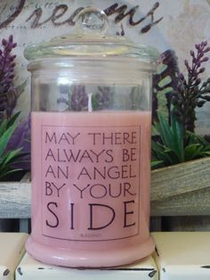 Golden Rose –  $25  -  1 Only May there always be an Angel by your side.   This 300ml Apothecary Jar Candle in a beautiful Rose fragrance a soft pink wax, finished with the relaxing quote.   Orders can be arranged by email to dreamcandles4740@hotmail. Collection from East Mackay Qld or delivery available Australia wide for $10 Payments accepted are Cash, Credit/Debit Card, Bank Transfer & Paypal #Angel_Candle